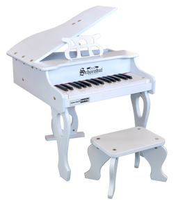 Schoenhut 30 key Digital Baby Grand Piano White