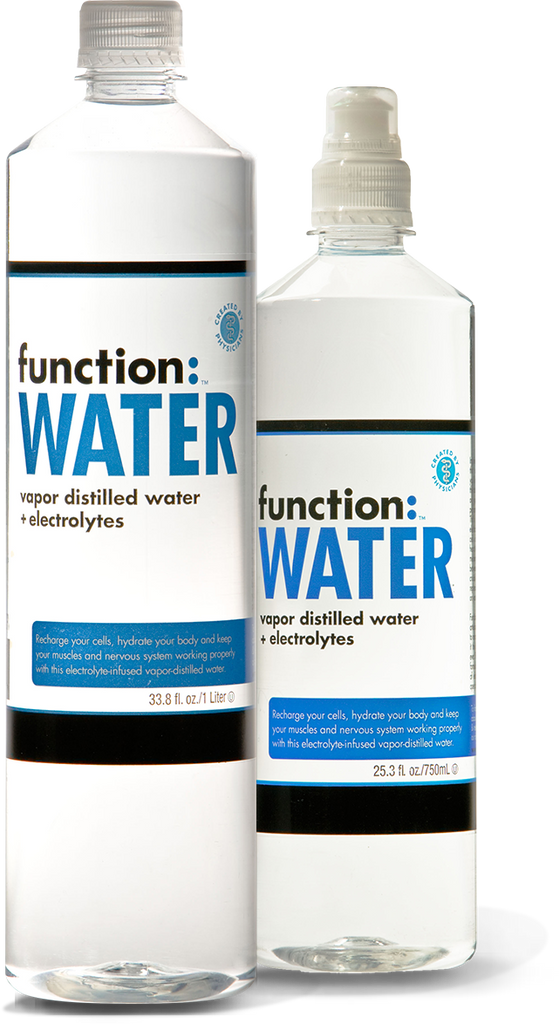 function: WATER (electrolyte enhanced, vapor distilled)