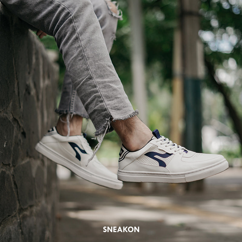 Sneakon 2in1 Luminous Whitenavy - Men
