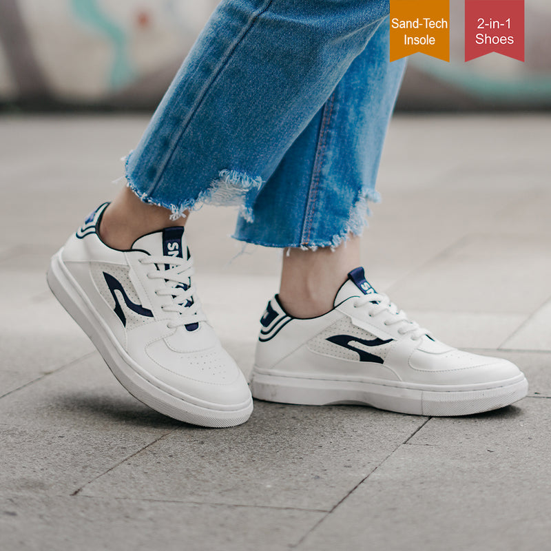 Sneakon 2in1 Luminous Whitenavy - Women