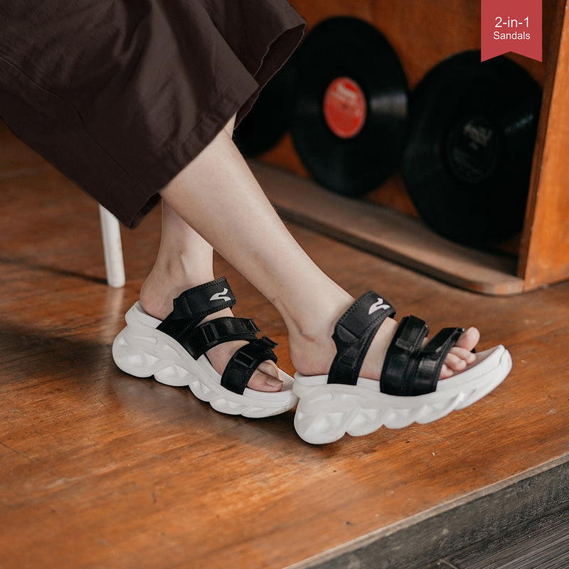Sneakon 2in1 Grace Sandal Black - Women
