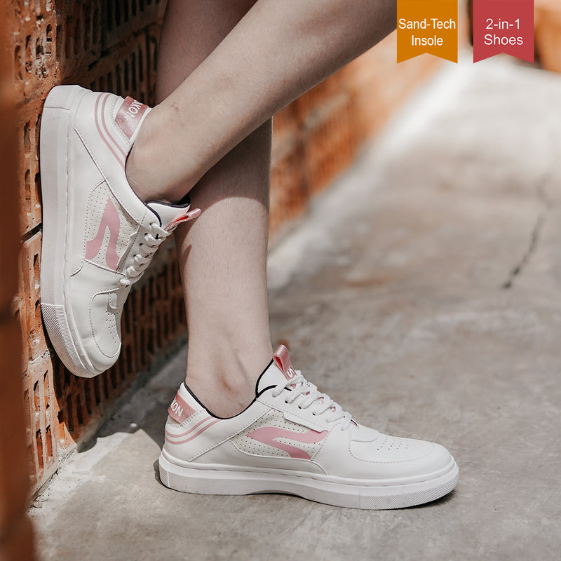 Sneakon 2in1 Luminous Whitepink - Women
