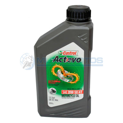 Aceite Castrol Actevo 20W50 4T Mineral Original - Genuine parts