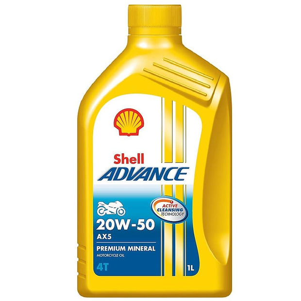 Aceite shell advance Ax5 20W50 mineral original - Genuine parts
