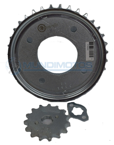 Kit Sprocket Honda C100 Wave 15/35 Generico Cassarella - Mundimotos
