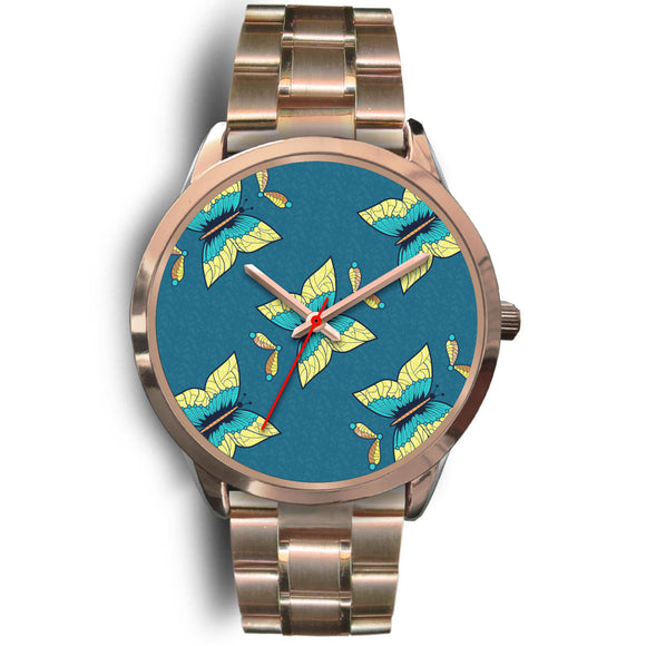 African Butterfly Watch - Rose Gold