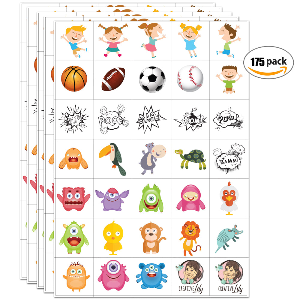 Childrens Temporary Tattoos Animal Pawprints Party Bag Fillers Boys Girls