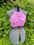 Purple Swizzle Adjustable Crop Top (L)