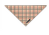 Tan Plaid Bandana
