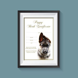 Birth Certificate - German Shepherd