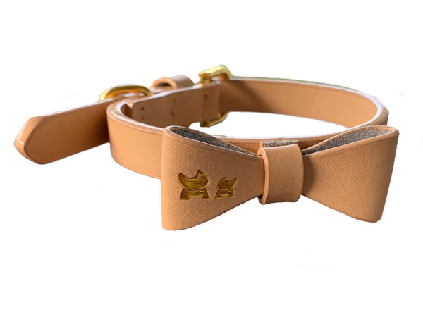 Luxury Leather Collar & Bow