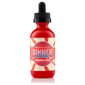 Dinner Lady Dessert Strawberry Custard Shortfill E-Liquid - Vape Chic