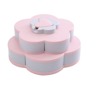 Flower Design Rotating Snack Box/Organizer - SHOPPLEHUB