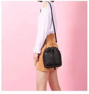 Bucket Drawstring Crossbody Bag