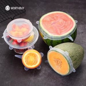 6 Pcs Universal Silicone Stretch Lids - SHOPPLEHUB