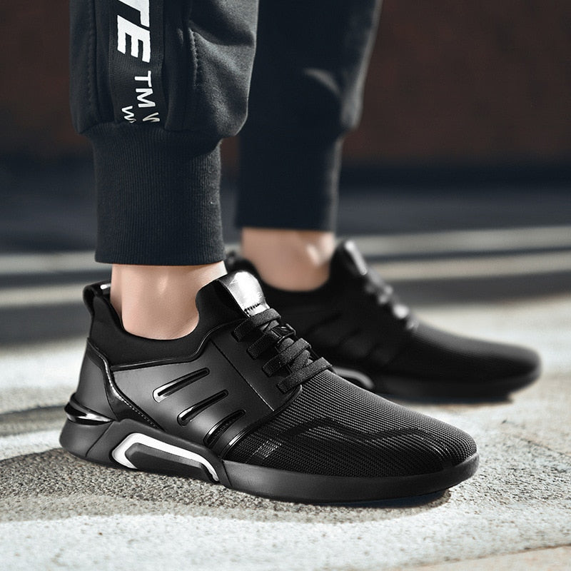 Breathable Lace-Up Sneakers - SHOPPLEHUB