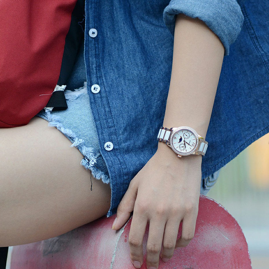 Moon Phase Quartz Watch - SHOPPLEHUB