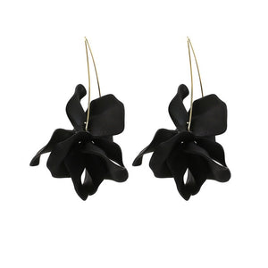 Boho Flower Statement Hook Earrings - SHOPPLEHUB