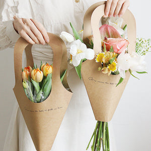 Kraft Paper Flower Bags (10pcs) - SHOPPLEHUB