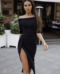 Peplum Bodycon Dress - SHOPPLEHUB