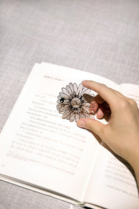 Rose Gold Hollow Flower Bookmark - SHOPPLEHUB