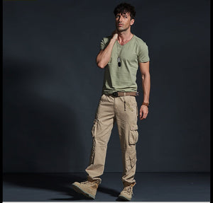 Multi-Pocket Safari Pants - SHOPPLEHUB