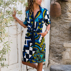 Boho Shirt Dress - SHOPPLEHUB