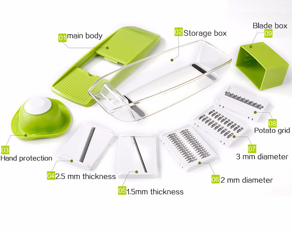 9 in 1 Multifunctional Vegetable Chopper - SHOPPLEHUB