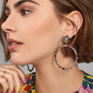 Colorful Crystal Drop Earrings (32 Designs) - SHOPPLEHUB