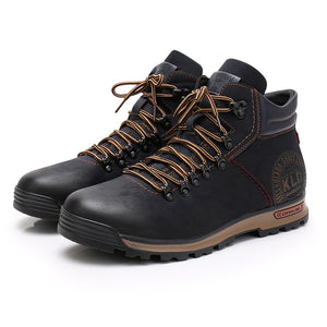 Lace-up Complex Boots - SHOPPLEHUB