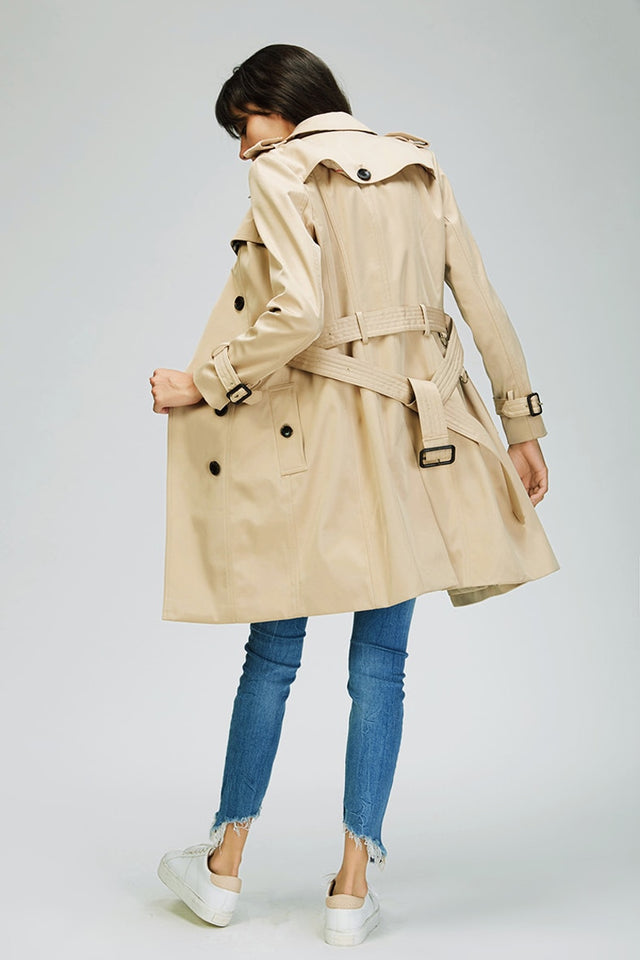 Double Breasted Waterproof Trench Coat - SHOPPLEHUB