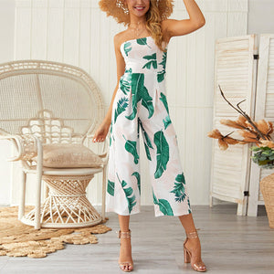 Tropical Print Jumpsuit - SHOPPLEHUB