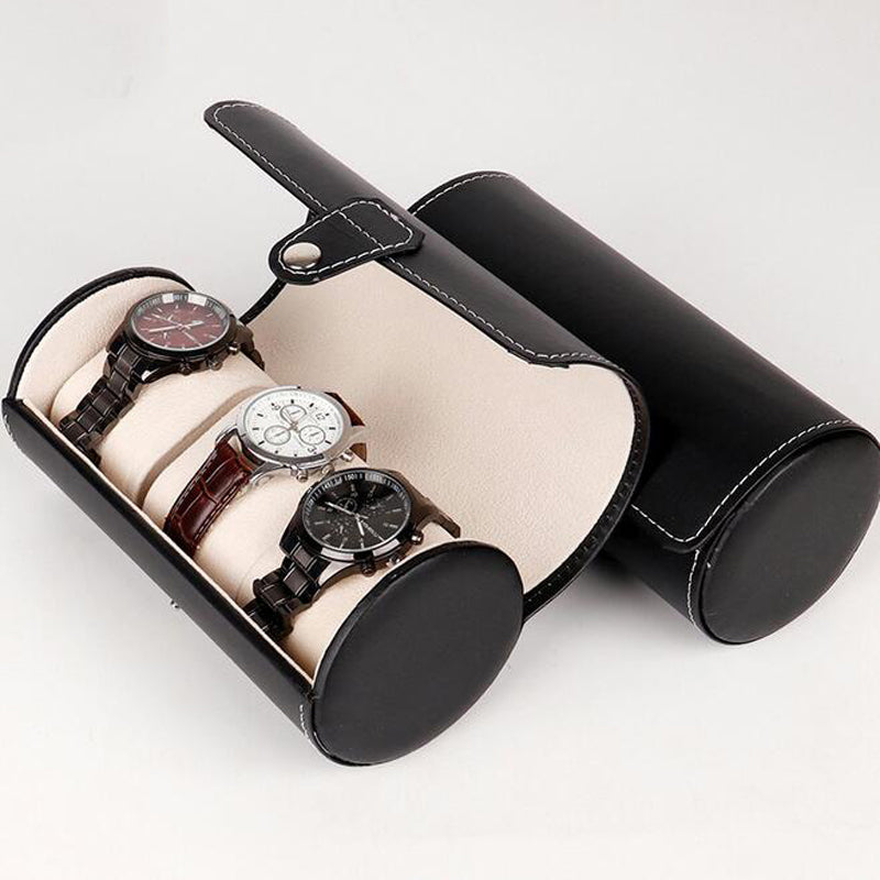 Leather Watch Storage Travel Case - SHOPPLEHUB