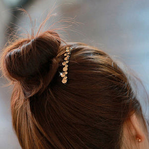 Korean Crystal Pearl Barrettes - SHOPPLEHUB