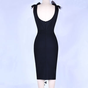 Sexy Black Lace Bandage Dress - SHOPPLEHUB