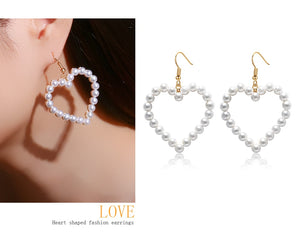 Korean Pearl Drop Statement Earrings - SHOPPLEHUB