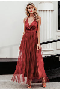 Elegant Evening Maxi Dress - SHOPPLEHUB