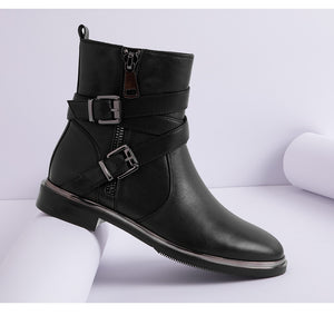 Buckle Up Ankle Boots - SHOPPLEHUB
