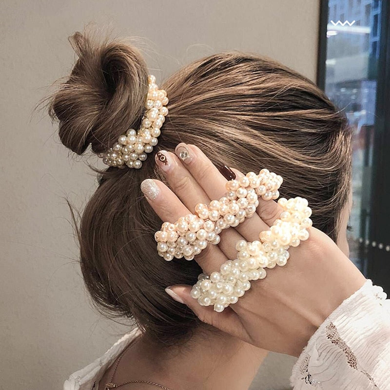 Pearl Hair Ties - SHOPPLEHUB