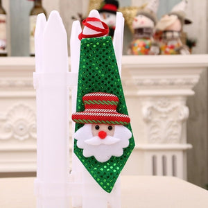 Christmas Themed Sequin Ties - SHOPPLEHUB