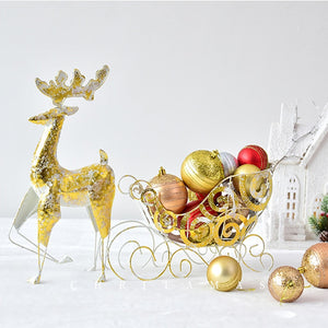 Nordic Christmas Reindeer Sled - SHOPPLEHUB