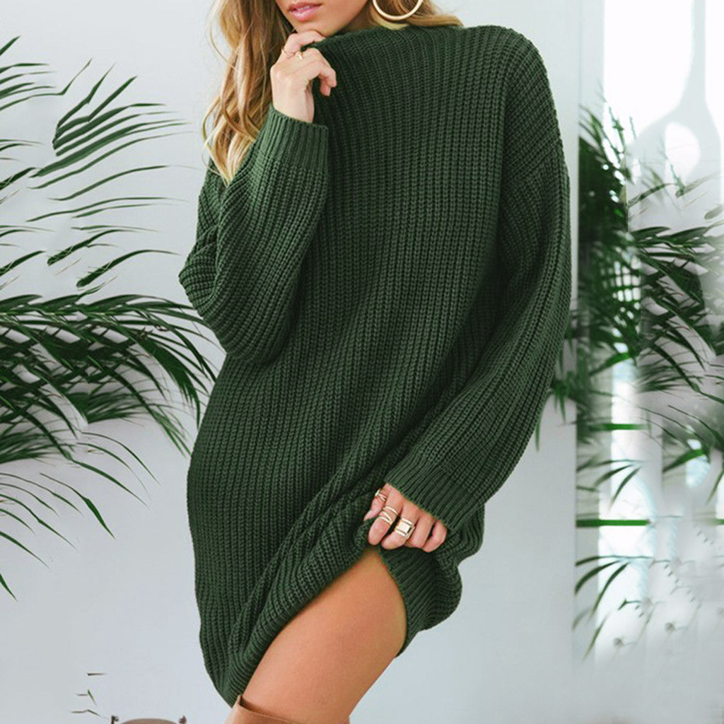 O-neck Solid Pullover Sweater - SHOPPLEHUB