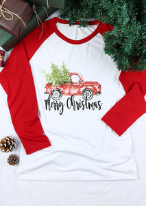 Merry Christmas Baseball T-shirt - SHOPPLEHUB