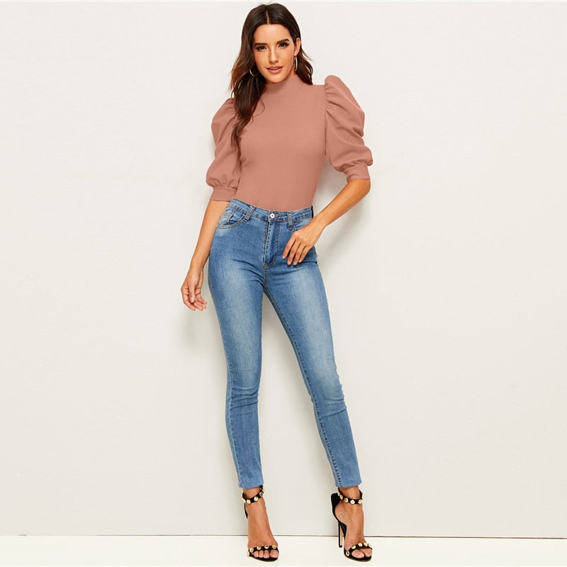 Elegant Puff Sleeve Blouse - SHOPPLEHUB