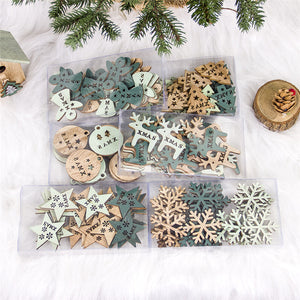 Christmas Themed Wooden Pendants - SHOPPLEHUB