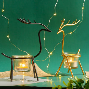 Nordic Elk Candle Holders - SHOPPLEHUB