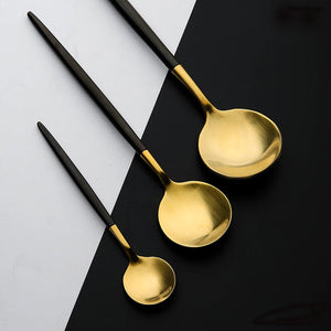 Gold Cutlery Set - SHOPPLEHUB