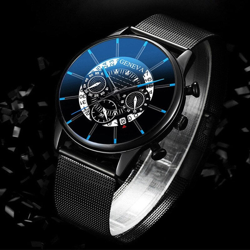 Multi-dial Mesh Band Wristwatch - SHOPPLEHUB