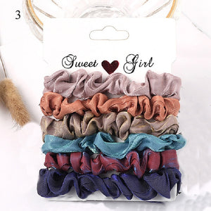 Candy Color Scrunchies Set - SHOPPLEHUB