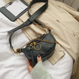 Chain Link Crossbody Messenger Bag - SHOPPLEHUB